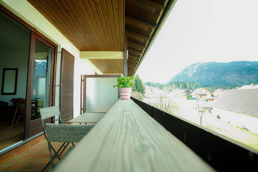 Zimmer 5 im Gästehaus Huss - Blick vom Balkon